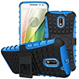 Case Collection® Stylish Heavy Duty Shock Proof Armour Dual Protection Cover with Built-in Kickstand For Motorola Moto E3