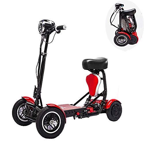 MLNRDDLY Elektro-Scooter Adult Faltbare, 150 Kg Max Last mit beweglichem Mobility 4-Rad Tragbare Mobilität Scooter Lithium-Batterie 36V 10Ah Cruising Bereich 30Km und HD-Display