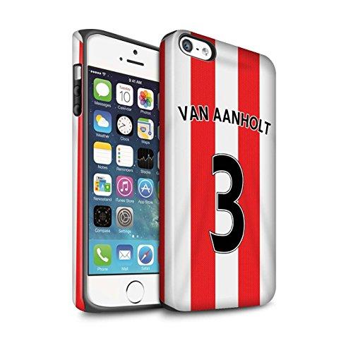 Offiziell Sunderland AFC Hülle / Matte Harten Stoßfest Case für Apple iPhone 5/5S / Pack 24pcs Muster / SAFC Trikot Home 15/16 Kollektion Van Aanholt