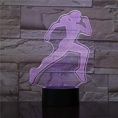 FEMALE WOMAN RUNNER 3D Led Nachtlicht Touch Sensor Flycatcher Dekorative Lampe Kind Kinder Baby Kit Nachtlicht 3D Lampe Flap USB wiederaufladbar Lesen Schlafen Nacht füttert Sportler Sport Guy Present Remote Interface Kit