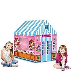 Kinderzelt Spielhaus mit Obst Prinzessin Spielhaus für Kinder Kinderhaus Fort Indoor Outdoor-Einsatz fördert frühes Lernen Social Bonding