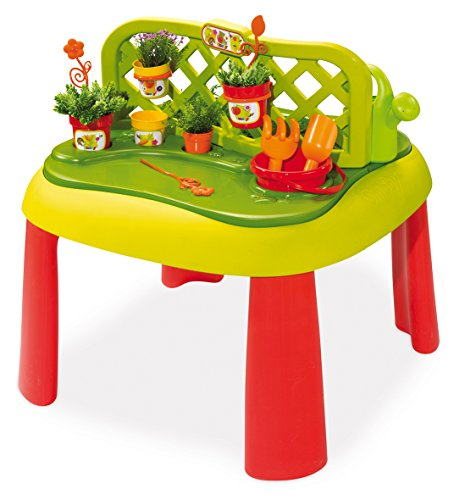 Smoby - 840100 - Jeu Plein Air - Table de Jardinage 2 en 1 - + 13 Accessoires Inclus