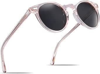 Carfia Retro Polarisierte Damen Sonnenbrille/Blaulichtfilter Brille Outdoor UV 400 für Fahren Angeln Reisen, Acetat-Rahmen