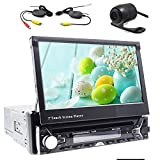 "Wireless Rear Camera include! 7""Touch Detachable Screen Autoradio Bluetooth Car GPS Navigation DVD CD Player Wince System One din Car Stereo USB SD FM AM car gps map Head Unit Steering Wheel Control Car Radio"