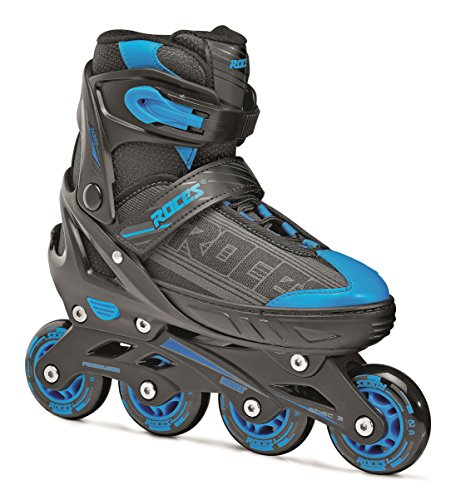 Roces - Pattini in linea da bambino Jockey 1.0, Ragazzo, Inline-skates Jokey 1.0, black-astro blue, 34-37