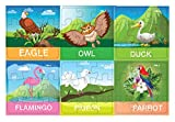 #3: Pola Puzzles Bird Puzzles Tiling Puzzles 9 Pieces X 6 Puzzles for Kids Age 3 Years and Above Multi Color Size 11.2CM X 11.2CM Jigsaw Puzzles for Kids