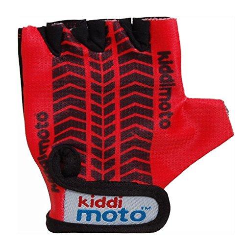 Kiddimoto GLV013M - Handschuhe Reifenspur, Größe M, rot