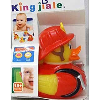 Allkindathings  Children Rubber Colour Changing Heat Safety Fun Kids Bath Toy Baby Duck Fireman