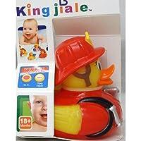 Preisvergleich für allkindathings AMZ _ fireman3262Kinder Gummi Farbe wechselnden Wärme Sicherheit Fun Kinder Badespielzeug Baby Duck Feuerwehr