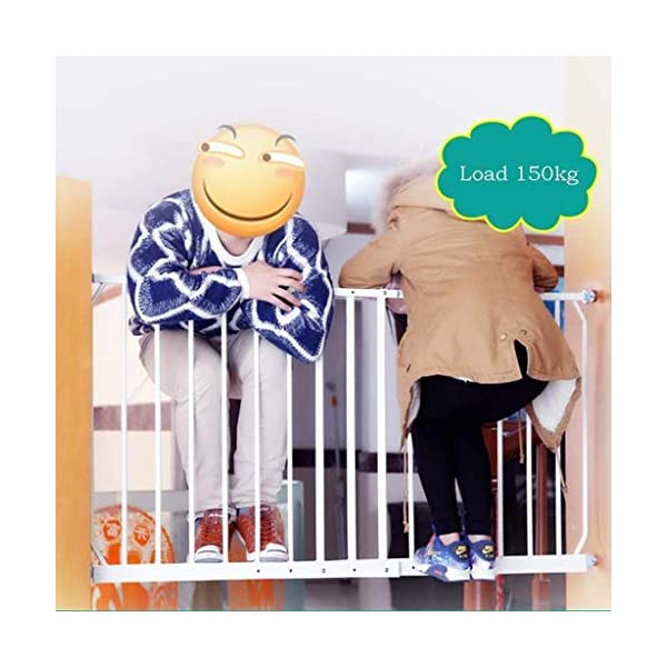 Huo Baby Safety Gate with 4 Pressured Adjustment Bolts for Window/Doorways, (Size : 260-335cm) Huo ◆ Safety Gates materials: strict selection of standard safety materials ABS plastic +iron pipe + environmentally friendly smooth surface spray ◆Strong bearing capacity:Mounts inside (recommended), easy to disassemble, no damage to the wall;Tested to withstand 150kg ◆ Safety Gates Tall Wide Large: Expands to ways and openings between 85-335cm wide. Stand 77cm tall. 3