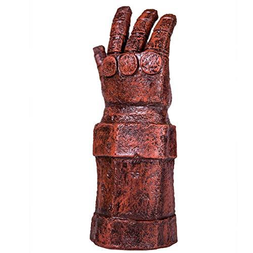 Wellgift Cosplay Rot Arm Handschuhe Kostüm Prop Erwachsene Männer Latex Handschuh für Halloween Kostüm Karneval Verkleiden Kleidung Zubehör Neue Version (Armee Kostüme Für Männer)