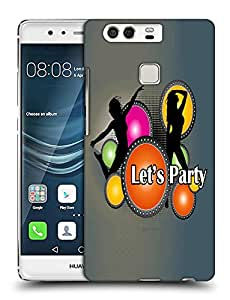 Snoogg Lets Party Designer Protective Back Case Cover For HUAWEI HONOR P9