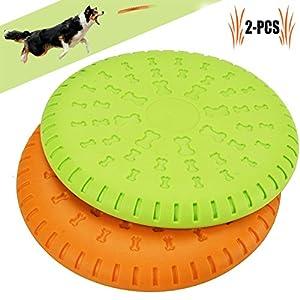 Unser Legendog scheibe hund ist aus hochwertigem, ungiftigem und umweltfreundlichem Gummi gefertigt, das flexibel und weich ist. So werden sie die Zähne deines Hundes nicht verletzen. Die vordere Kante und das mittlere konkave Design machen es einfac...