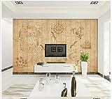 Mznm Customized 3D Murals Wallpaper European Retro World Map Wooden Stripes Tide Chart Tv Background Wall 3D Wallpaper Home Decor 200X140Cm
