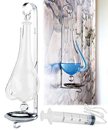 infactory Pinkel Barometer: Historisches Goethe-Barometer aus Glas (Goetheglas)