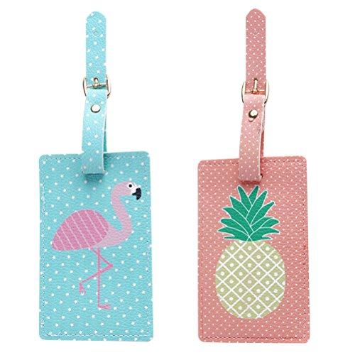 LUOEM Bolsa equipaje viaje Tag Pineapple Flamingo