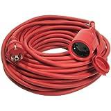 as-Schwabe 60264 Rallonge électrique Câble caoutchouc rouge 25m H05RR-F 3G1,5 Extérieur / IP44 (Import Allemagne)
