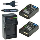 Chili Power CP della E10Kit; 2X batteria (1150mAh) + caricatore per Canon EOS 1100d, EOS Rebel T3, EOS Kiss X50