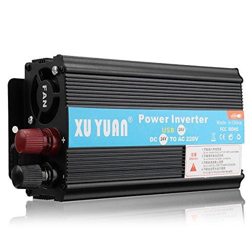 KUNSE 4000W 12V/24V DC to 110V/220V AC Solar Power Inverter Led Modified Sine Wave Converter Black-#4 110v Ac Power Inverter