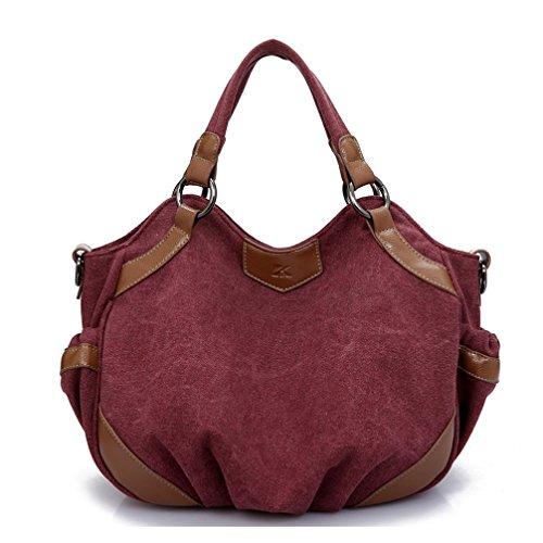 Leinwand Niedlich Damen Handtaschen, Hobo-Bags, Schultertaschen, Beutel, Beuteltaschen, Trend-Bags, Velours, Veloursleder, Wildleder, Tasche Lila Keshi