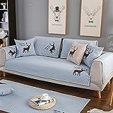 Ommda Waschbare Tiere Muster Gesteppter Sofa Schutz Abdeckung Antirutsch Möbelschutz Überwurf...