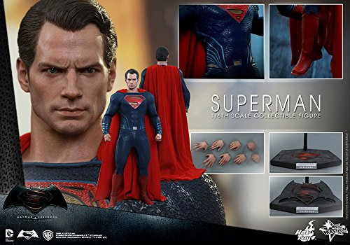 Hot-Toys-1-6-Escala-Superman-Batman-Vs-Superman-Dawn-de-justicia-figura-azulrojo