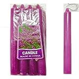 Shreeji Decoration High Quality Plain Medium Purple Candle (Purple, Pack Of 8)