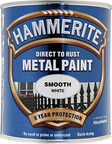 Hammerite Metallfarben-glatte 750ml Weiß