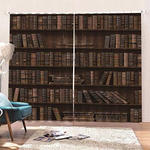 AKLIGSD Tenda Termica Isolante Oscurante Libreria Tende a Pieghe a Matita Riduzione del Rumore Tende Oscuranti per Soggiorno in Camera da Letto Dell'hotel 140(W) x160(H) cm