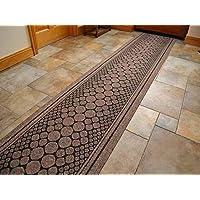 SrS Rugs Brown Cork Industrial Heavy Duty Hallway Runner Mat Carpet Anti Slip ***