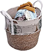 YATAI Stylish Cotton Rope Storage Basket Woven Storage Bins Organizer Laundry Basket With Handles Clothes Sort