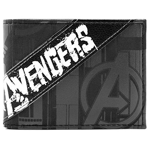 Marvel Avengers gemalte Art Schwarz Portemonnaie Geldbörse