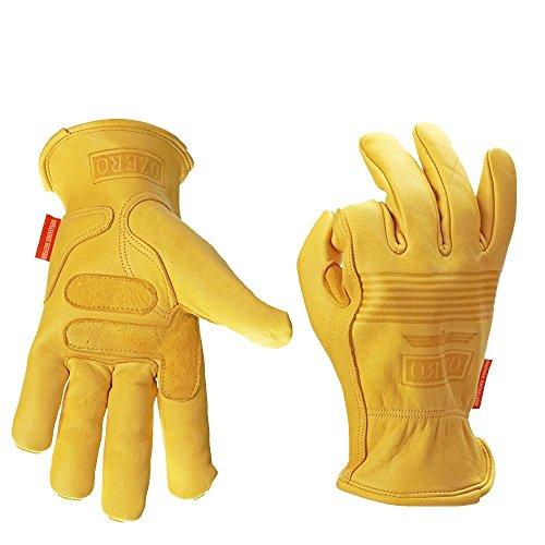 MIGE Winter Handschuhe Premium Quality Weich und Geschmeidig Leder Outdoor Handschuhe Motorrad Fahrrad Rennwagen Damen Und Herren,Gelb(M) (Rucksack Fox Nylon)