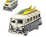 DSstyles Retro Wohnmobil Van Classic T1 Van Metall Strand Bus Spielzeug Modell 6,3 Zoll für Geburtstag Geschenk Valentinstag Geschenk - Schwarz