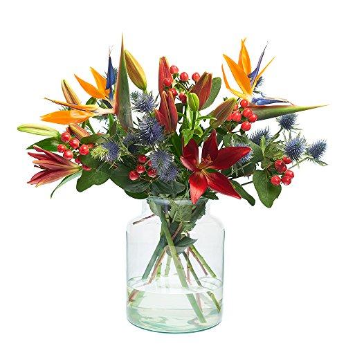 Blumenstrauß Winter Sun |Lilien, Edeldisteln, Hypericum, Strelitzien | Bloomy Days