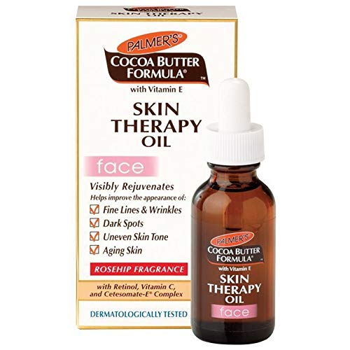 Palmer's, Cocoa Butter Formula, Skin Therapy Oil, Face, Rosehip Fragrance, 1 fl oz (30 ml) (Palmers Cocoa Butter Face)