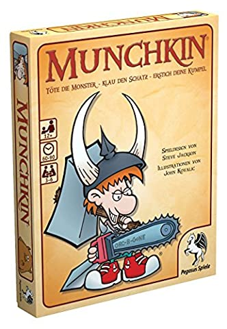 Pegasus Spiele 17211G - Munchkin Kartenspiel (Blutige Kettensäge)