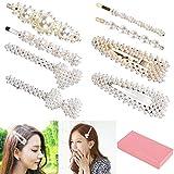 Haarspange Perlen 8 stück, Queta Haarklammern Perlen Mode Brauthaarschmuck Haarnadeln für Frauen und Mädchen