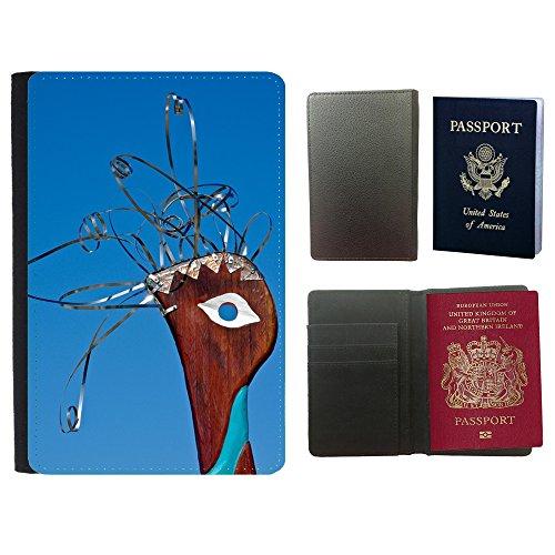 GoGoMobile Cubierta del pasaporte de impresión de rayas // M00125003 Scultura Arte Uccello Capo astratta // Universal passport leather cover