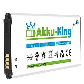 Akku-King Akku ersetzt Samsung EB-B900BE - Li-Ion 3000mAh (mit NFC) - für Galaxy S5, S5 Neo, GT - i9600, i9602, i9605, SM-G901