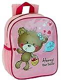 Kinderrucksack - Honey the Bear - 412 Mini Kinder Rucksack mit Brustgurt Adressfach Kindergartentasche
