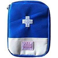 Gosear Portable Mini Botiquín Caja de Almacenaje de Píldora Pastillero Caso Bolsa de Herramienta de Emergencia para Al aire libre Senderismo Camping Viaje,Azul