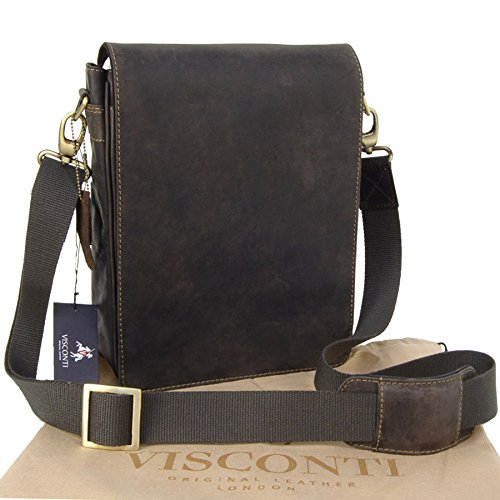 Visconti, Borsa a tracolla in pelle, Unisex adulto Marrone (Öl Braun)