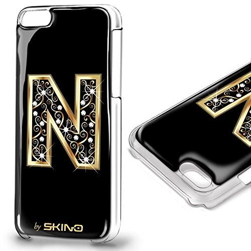 Skino™ Custodia Skin 3D Anti-Gravità Case Cover Resina Gel per iPhone 5 / 5s / 5 SE / 6/6 Plus / 6s / 6s Plus / 7/7 Plus Anti-Scratch Protezione 100% UV Antiscivolo Letter Gold Lettera Doro N (iPhone