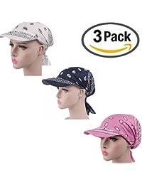 ZYCC Sommer-Damen-Sonne-Hut-Visier-Kappe Chemo Krebs-Kopf-Schal-Hut Faltender Anti-UV Golf-Tennis-Hut