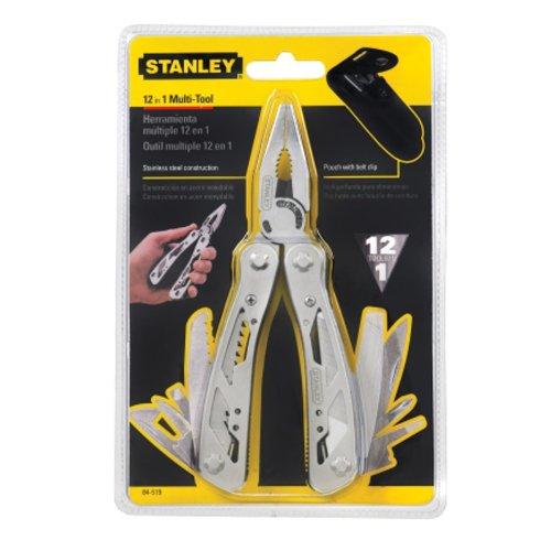Stanley STA084519 12 in 1 Multi-Tool, Multifunktionswerkzeug mit Tasche