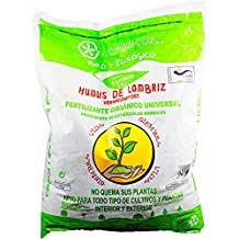 Humus de Lombriz ECOLOGICO 5 Litros - Fertilizante Abono
