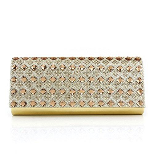 Lady Bag Banchetto Tempestato Di Diamanti Nuova Ragazza Bag Messenger Gold