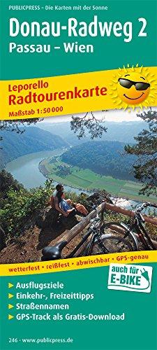 Donau-Radweg 2, Passau - Wien: Leporello Radtourenkarte mit Ausflugszielen, Einkehr- & Freizeittipps, wetterfest, reissfest, abwischbar, GPS-genau. 1:50000 (Leporello Radtourenkarte / LEP-RK) (Radweg)