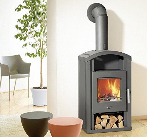 Preisvergleich Produktbild Kaminofen Saturn Wamsler gussgrau 6,5 KW Holzofen Kamin Ofen Schwedenofen